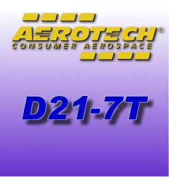 D21-7T - Single Use Rocket Motor 18 mm Aerotech