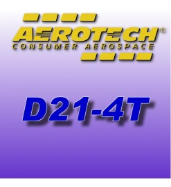D21-4T - Single Use Rocket Motor 18 mm Aerotech