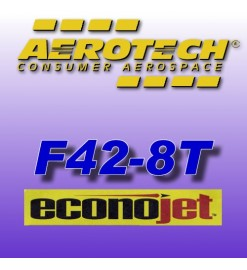 F42-8T Econojet (2 pz.) - Aerotech Single Use Rocket Motors 29 mm