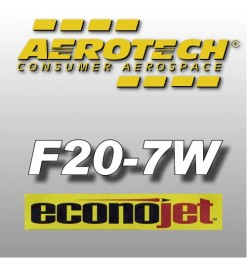 F20-7W Econojet (2 pz.) - Aerotech Single Use Rocket Motors 29 mm