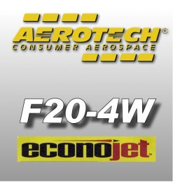 F20-4W Econojet (2 pz.) - Aerotech Single Use Rocket Motors 29 mm