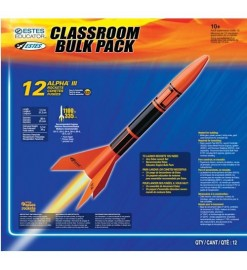 Rocket kit Alpha III Bulk Pack (12 pz.) - Estes