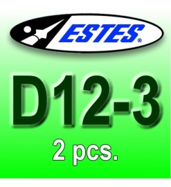 Estes rocket motors D12-3 (2 pcs.)