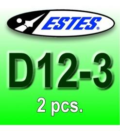 Motori Estes D12-3 (2 pz.)