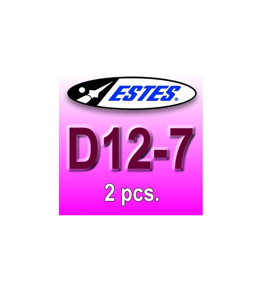 Estes rocket motors D12-7 (2 pcs.)