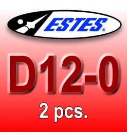 Estes rocket motors D12-0 (2 pcs.)