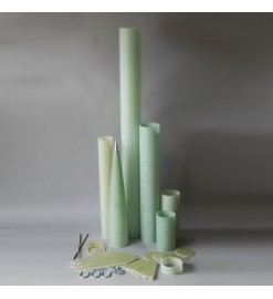 Picture of the kit parts of Frenzy Massive Fiberglass - Madcow Rocketry