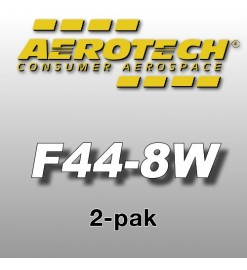 F44-8W Economax (2 pz.) - Aerotech Single Use Rocket Motors 24 mm