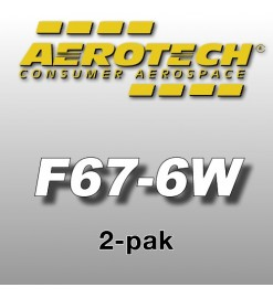 F67-6W Economax (2 pz.) - Aerotech Single Use Rocket Motors 29 mm