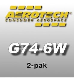 G74-6W Economax (2 pcs.) - Aerotech Single Use Rocket Motors 29 mm