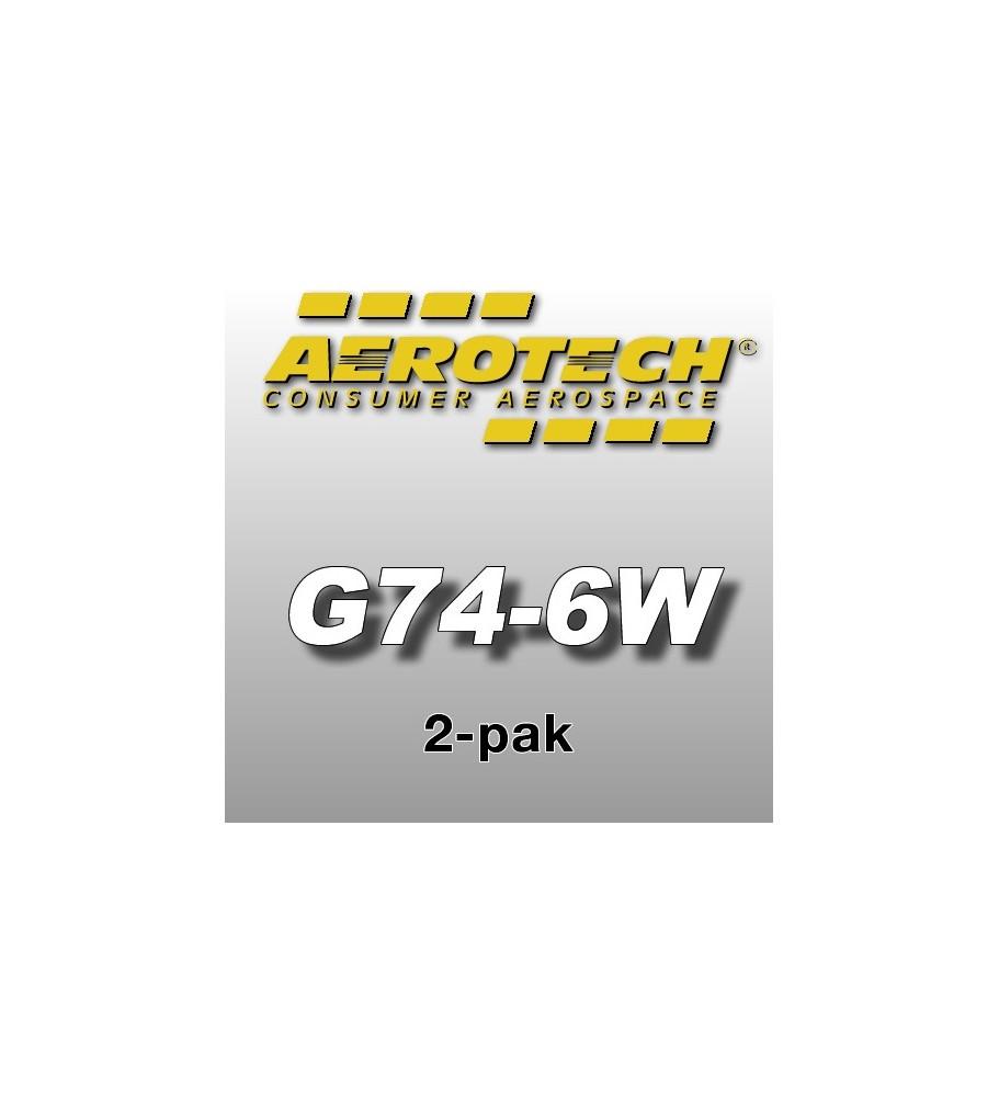 G74-6W Economax (2 pcs.) - Aerotech Single Use Rocket Motors 29 mm