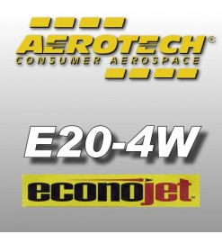 E20-4W Econojet - Aerotech Single Use Rocket Motors 24 mm