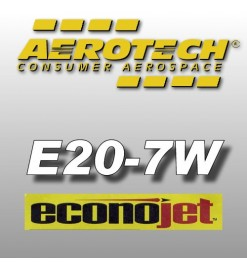E20-7W Econojet - Aerotech Single Use Rocket Motors 24 mm